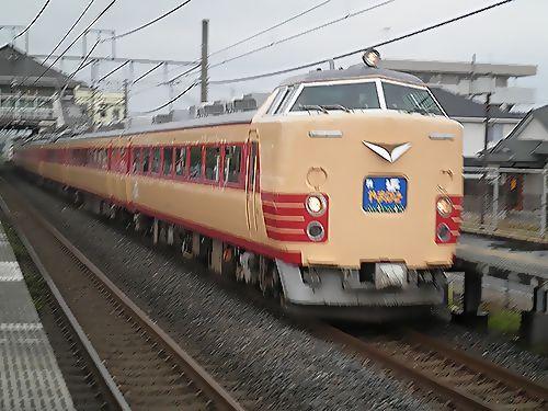 仙セン485系A1・A2編成国鉄色「やまばと」(2012年7月7日・新白岡)1