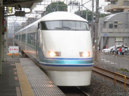 東武スペーシア108編成(「粋」)「スペーシア日光43号」(2012年7月7日・土呂)
