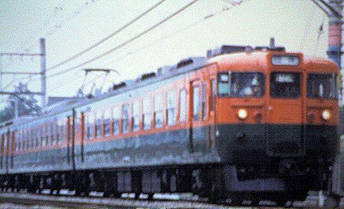 高シマ165系湘南色(2002年5月頃・北上尾~桶川間)