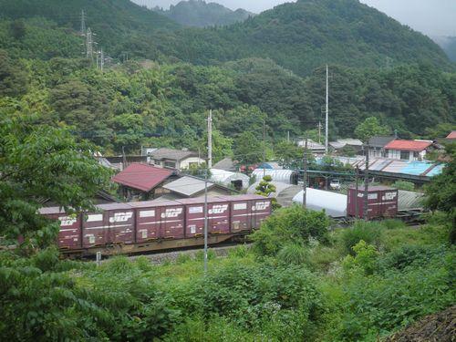 上越線高速貨物列車通過(津久田~岩本間・2012年7月7日)