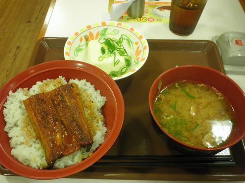 すき家「うな丼&健康とん汁セット」(2012年7月16日)