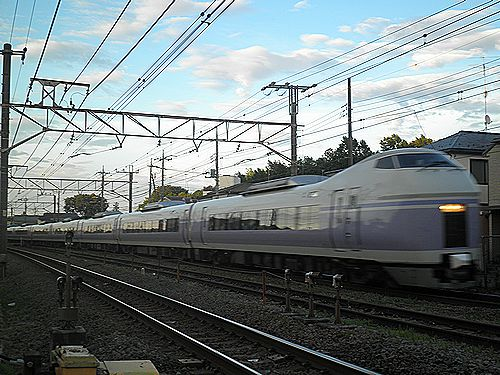 E351系「スーパーあずさ29号」(2012年7月16日・日野~豊田間)