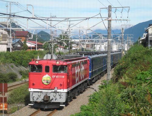 EF65 1108「EL&SL碓氷」(2012年7月16日・相模湖~藤野間)