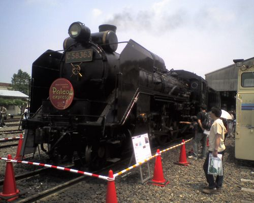 秩父鉄道C58 363(2008年5月17日・広瀬河原車両工場)