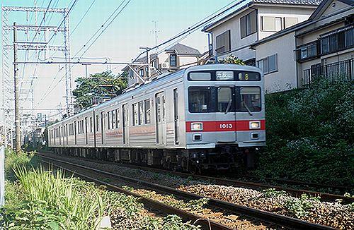東急1000形1013F(2012年7月10日・久が原~千鳥町間)