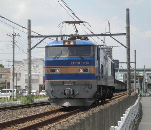 EF510-513[田](2012年8月3日・上尾~北上尾間)
