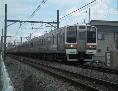 高タカ115系B6編成以下15連(2012年8月3日・上尾~北上尾間)