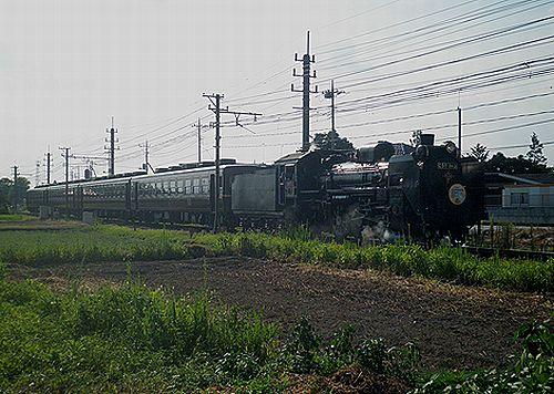 秩父鉄道C58 363牽引「パレオエクスプレス」(2012年8月3日・大麻生~明戸間)