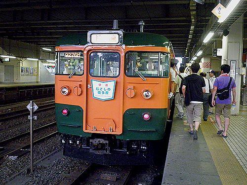 高タカ115系「むさしの奥多摩号」(2012年8月12日・拝島)2