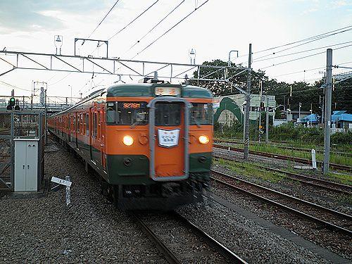 高タカ115系「むさしの奥多摩号」(2012年8月12日・拝島)1