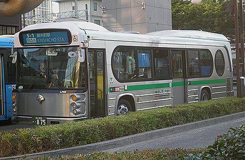 都営バスS-1系統「夢の下町」バス・日野レインボーHR(KL-HR1JNEE)(2012年8月27日・錦糸町駅北口)