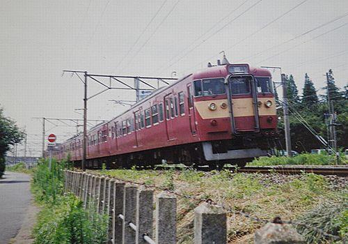 水カツ415系K501編成・快速「ときわビーチ」(2002年7月27日・勝田~佐和間)2