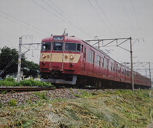 水カツ415系K501編成・快速「ときわビーチ」(2002年7月27日・勝田~佐和間)1