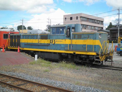 DE10 1014(真岡鐵道真岡駅・2012年9月1日)