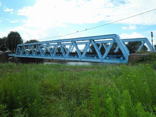 真岡鐵道・五行川橋梁(2012年9月1日)2