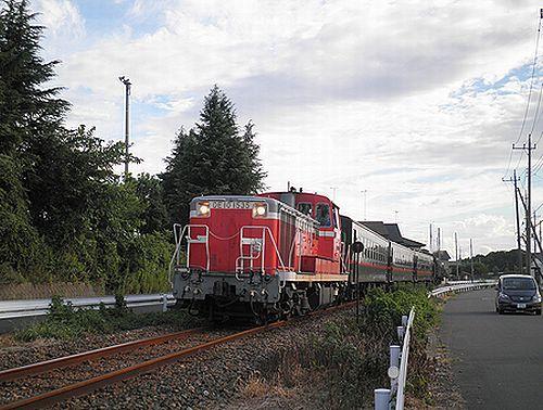 真岡鐵道6103列車(2012年9月1日・寺内~真岡間)1