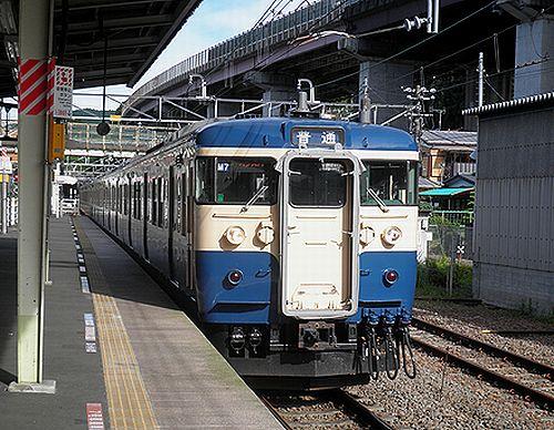 八トタ115系「M7」編成(2012年7月16日・相模湖駅)
