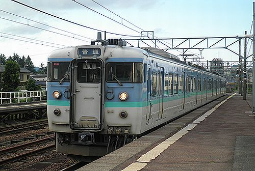 長ナノ115系「N27」編成・クモハ115-1083(2011年6月14日・信越本線新井駅)