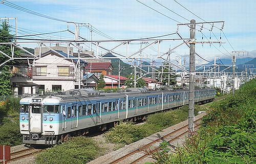 長ナノ115系「C9」編成・クハ115-387ほか(2012年7月16日・相模湖~藤野間)