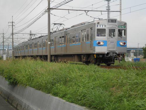 秩父鉄道5000系(5002編成)(ひろせ野鳥の森~広瀬河原間・2012年9月30日)