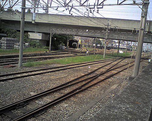 秩父鉄道三ヶ尻駅構内(2008年5月17日)2
