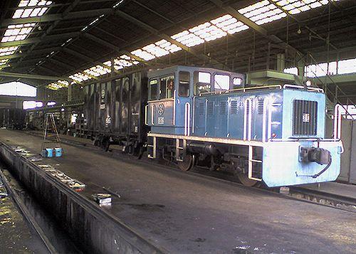 秩父鉄道D15(広瀬河原車両基地・2008年5月17日)