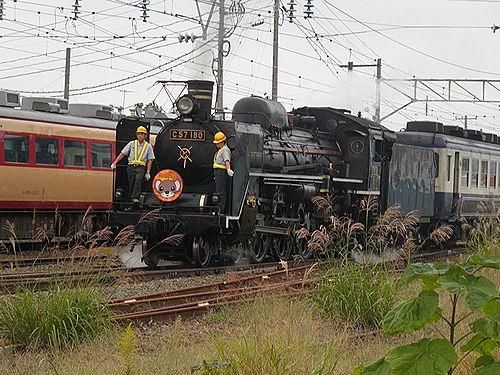 C57 180「SLばんえつ物語」(会津若松駅・2012年10月6日)1