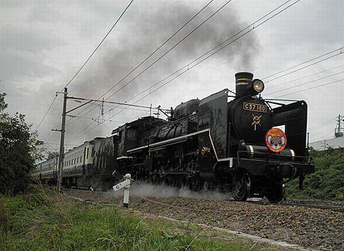 C57 180「SLばんえつ物語」(会津若松~堂島間・2012年10月6日)