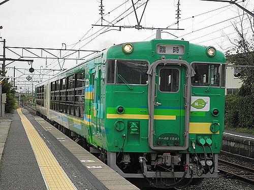 仙ココ・キハ48「びゅうコースター風っこ」(磐越西線安子ヶ島駅・2012年10月6日)