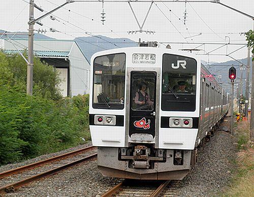 仙セン719系H15編成(磐越西線安子ヶ島駅・2012年10月6日)