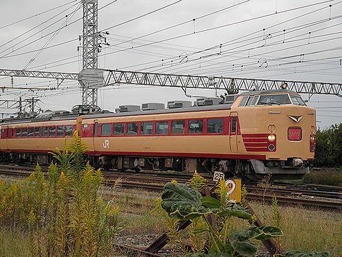 仙セン485系A1・A2編成「あいづライナー」(会津若松・2012年10月6日)1