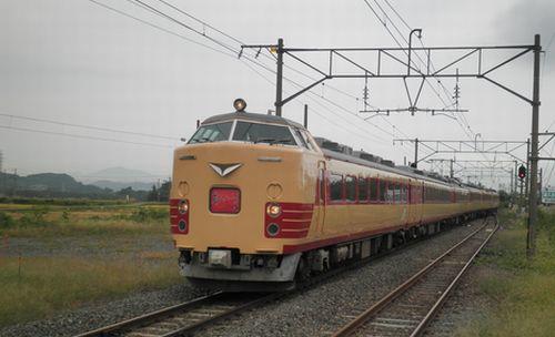 仙セン485系A1・A2編成「あいづライナー」(磐越西線安子ヶ島・2012年10月6日)2