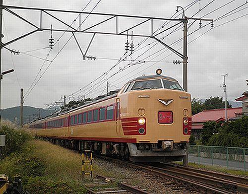 仙セン485系A1・A2編成「あいづライナー」(磐越西線安子ヶ島・2012年10月6日)1