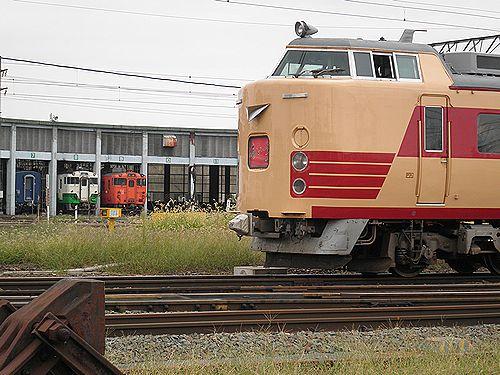 仙セン485系A1・A2編成「あいづライナー」(会津若松・2012年10月6日)2