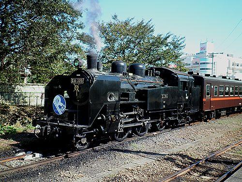 真岡鐵道C11 325(2012年10月8日・下館駅)1