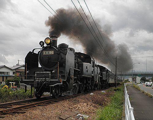 大井川鐵道SL急行1001列車「かわね路11号」(C11 190+C11 227重連)(2012年10月7日・五和~神尾間)