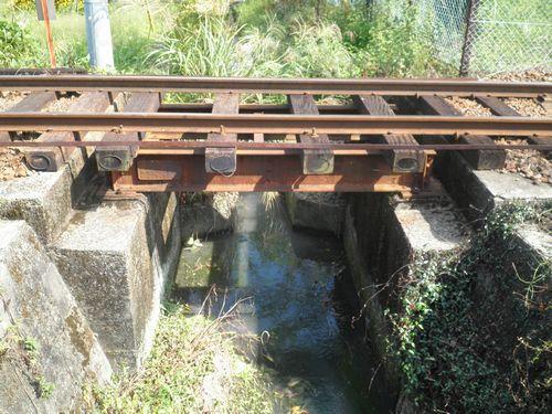 大井川鐵道五和変電所付近の溝渠橋梁(2012年10月7日)前景