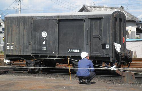 大井川鐵道Cワフ4(2012年10月7日・新金谷駅)