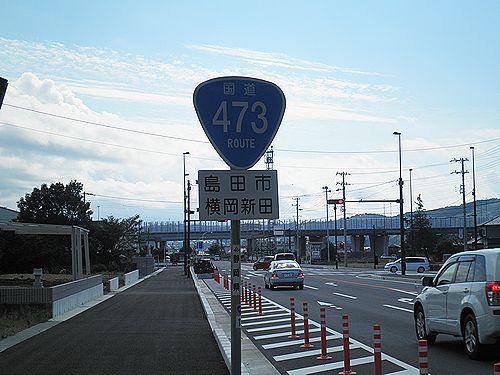 国道473号線・静岡県島田市横岡新田(2012年10月7日)