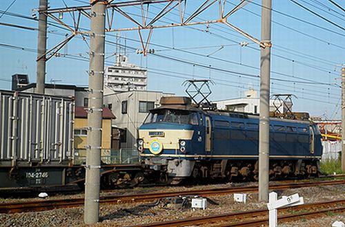 EF66 33(吹)「第19回JR貨物フェスティバル 広島車両所」ヘッドマーク付(2012年10月12日・川崎新町)