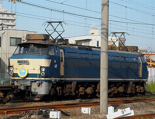 EF66 33(吹)「第19回JR貨物フェスティバル 広島車両所」ヘッドマーク付(2012年10月12日・川崎新町)2