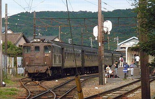 大井川鐵道ED501号機(いぶき501)(2012年10月7日・新金谷駅)2