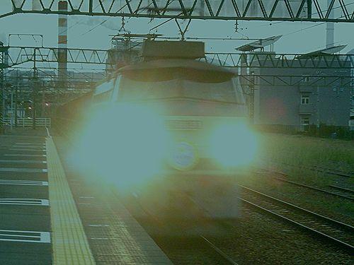 EF66 33(2086列車・東海道本線島田駅・2012年10月7日)