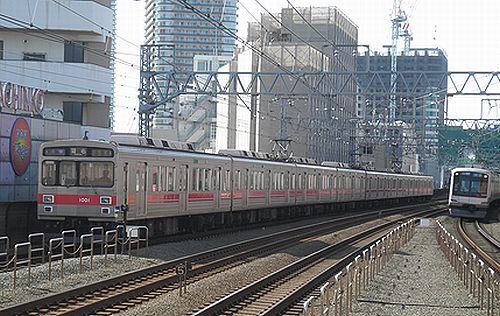 東急1000系1001F(東急東横線新丸子駅・2012年10月12日)