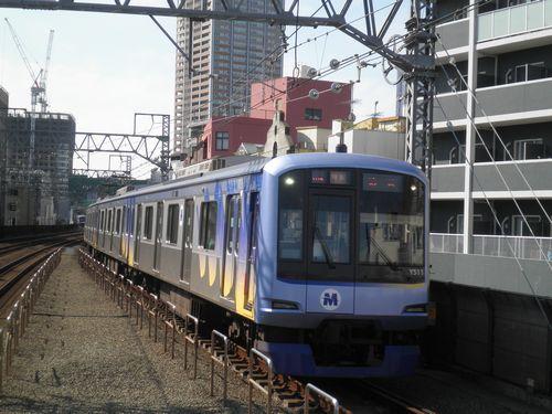 横浜高速鉄道Y500系(東急東横線新丸子駅・2012年10月12日)