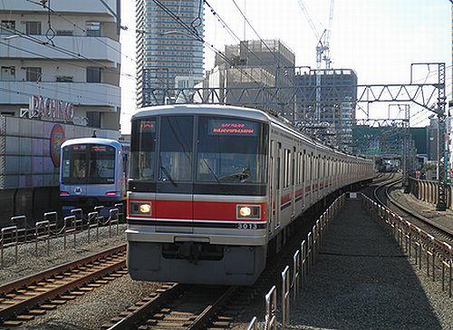 東急(新)3000系・3013F(東急目黒線新丸子駅・2012年10月12日)