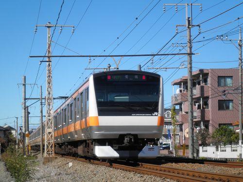 八トタE233系T13編成(青梅線羽村~小作間・2012年11月10日)