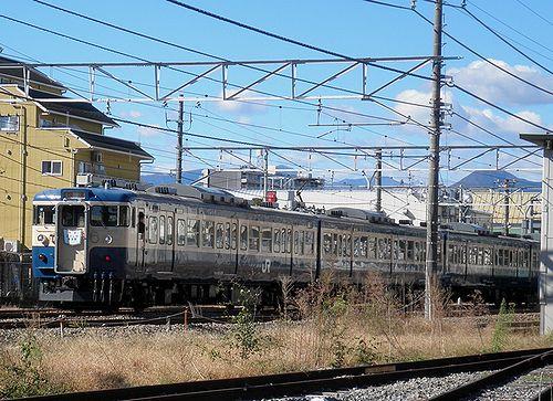 八トタ115系M40編成「むさしの奥多摩号」(青梅線河辺駅・2012年11月10日)