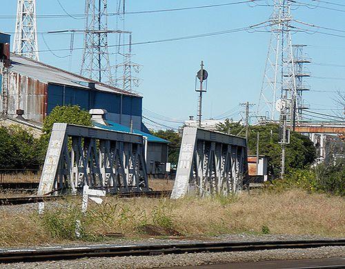 京葉臨海鉄道・浜野川橋梁(千葉貨物駅構内・2012年11月18日)