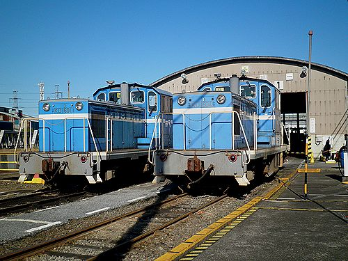 京葉臨海鉄道KD601(左)・KD604(右)(千葉貨物駅・2012年11月18日)